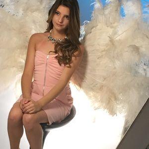 💟 NWOT HELLO ANGEL! STRETCHY PONTE ZIPPER DRESS